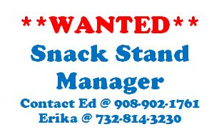 WANTED Snack Stand Manager